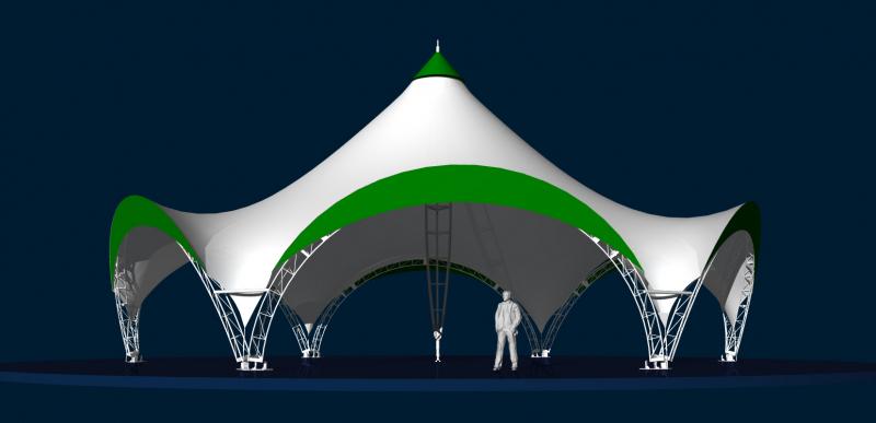 Мобильный шатёр для мероприятий