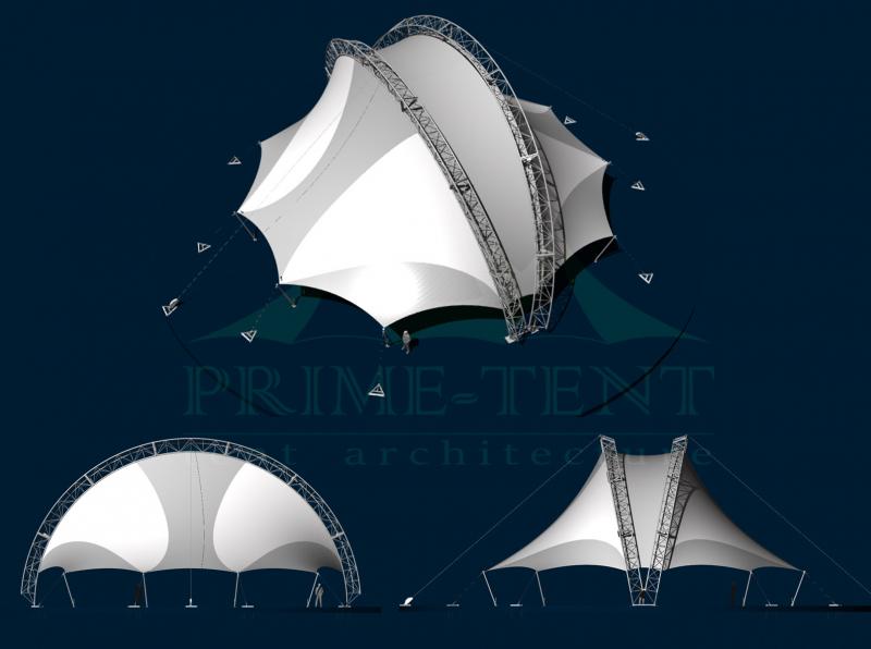 Арочный мобильный шатёр