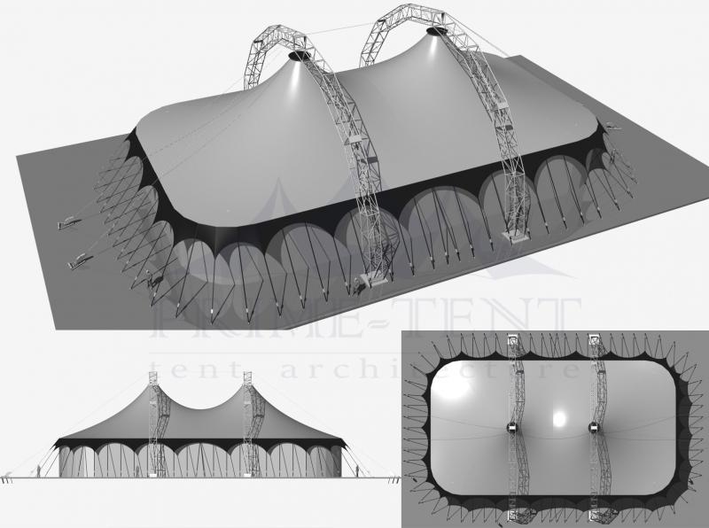 Мобильный шатёр для выставок